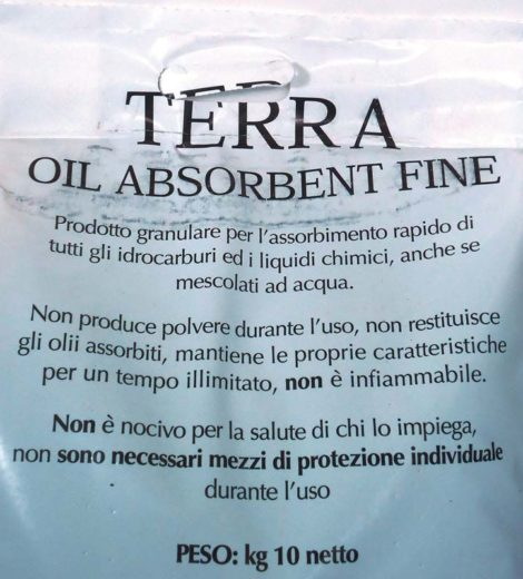Terra oil adsorbent
